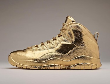 Drake's Solid Gold Air Jordan 10 OVO