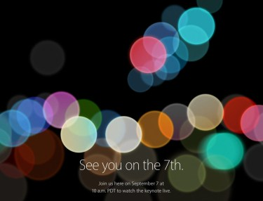 Apple Officially Announces Sept. 7 Event