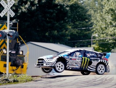 Ken Block Drifts Around Industrial Park in Buffalo, NY
