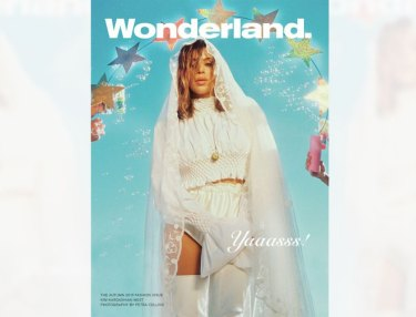 Kim Kardashian Covers Wonderland
