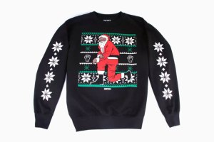 HSTRY Kneeling Santa Sweater