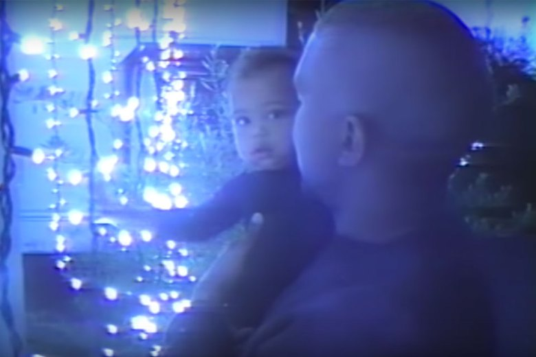 Kanye West with son Saint West