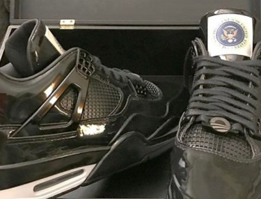 President Obama Gifted Custom Air Jordan 4s