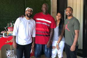 Michael Jordan and family