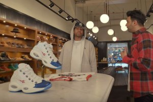 Allen Iverson Goes Sneaker Shopping in Philly