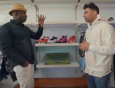 Deion Sanders Goes Sneaker Shopping