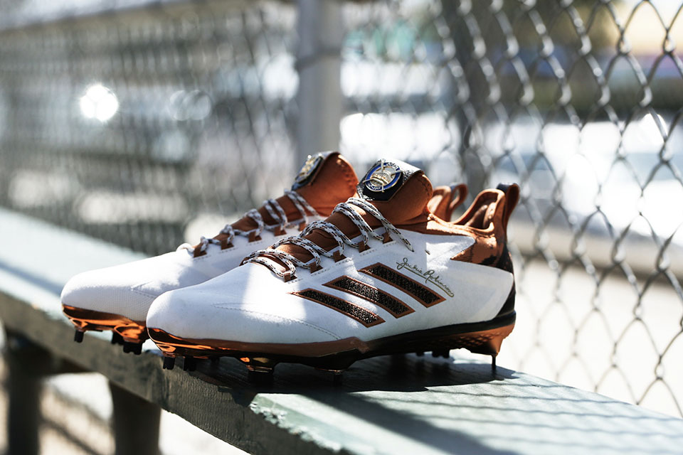 12a2e3106313 Adidas Honors Jackie Robinson with Special Edition Cleat   Icon Turf Trainer