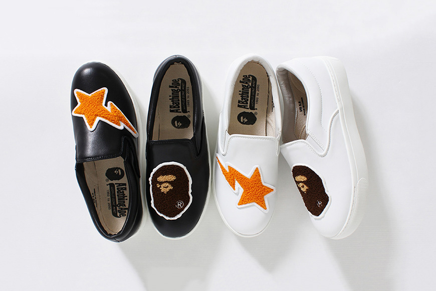 BAPE Ape Head & Sta Platform Slip-On