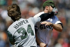 Bryce Harper-Hunter Strickland Fight