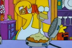 Homer Simpson's Space Age Moon Waffles