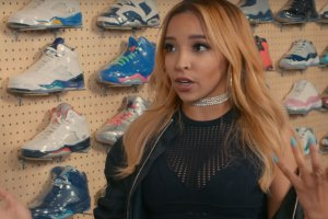 Tinashe goes sneaker shopping