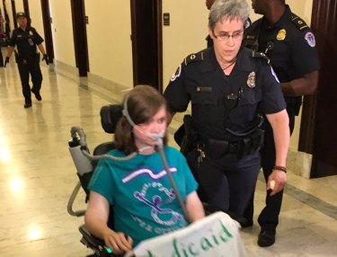 Police Forcibly Removed Wheelchair-Ridden Protesters From Senate