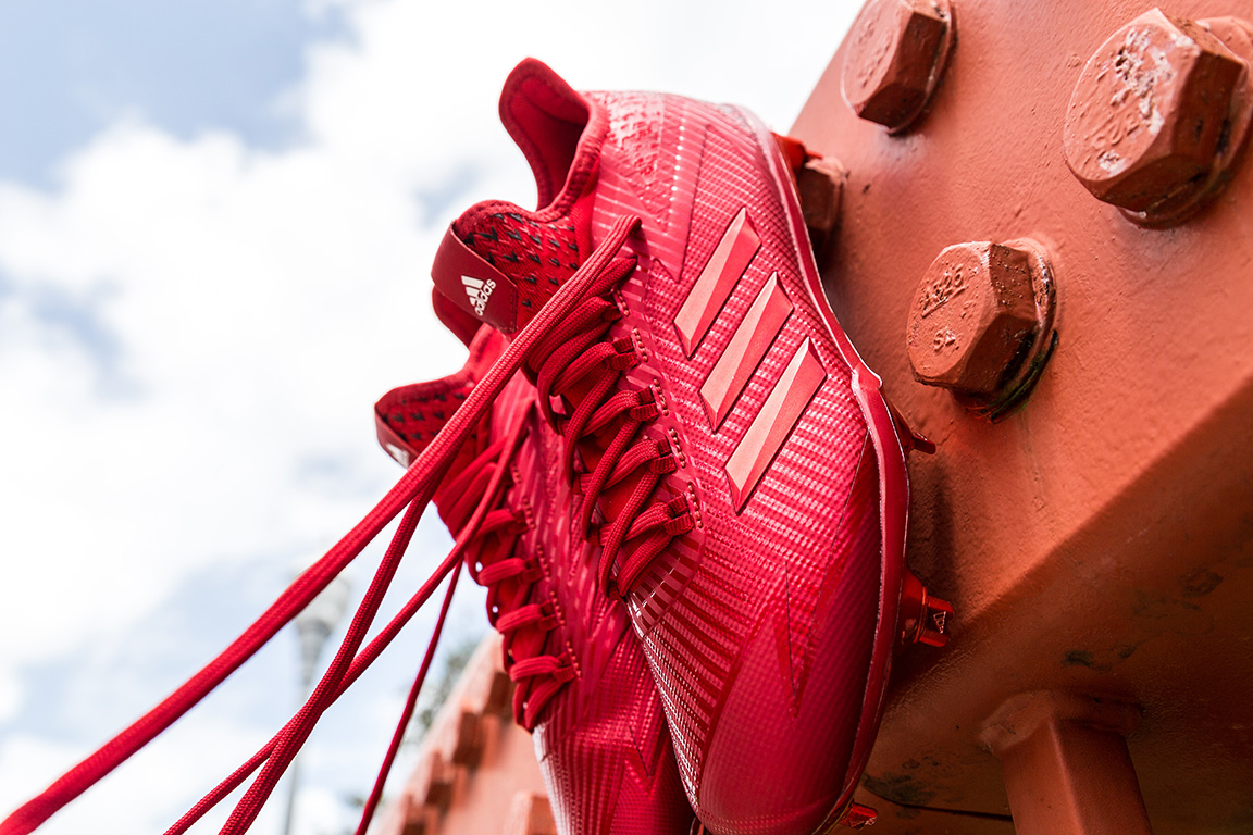 """brand new b0fb1 abd60 Adidas Baseball returns with a collection of triple-color cleats for its 2017  adizero Afterburner, dubbed """"Dipped""""."""