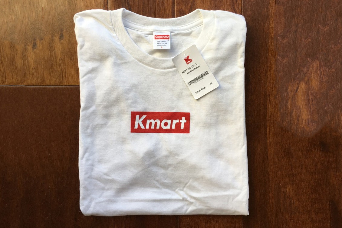 ecaeaad4 Blank Supreme Tees From Kmart Printed With