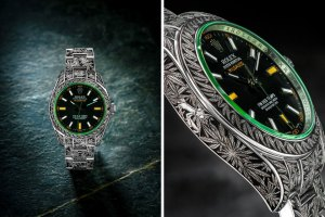 Marijuana Weed-Themed Rolex