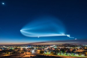 Time-Lapse of the SpaceX UFO Launch