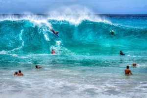 Surfing in Hawaii