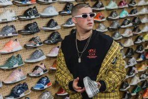 Bad Bunny Goes Sneaker Shopping at Flight Club LA