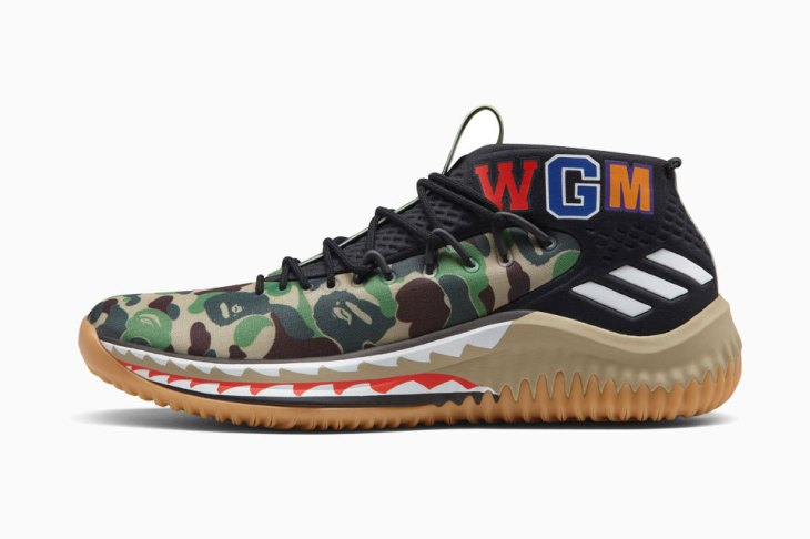 official photos 277f6 51a36 First Look at the Adidas DAME 4 BAPE Collection