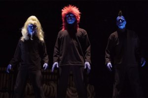 Blue Man Group with hair