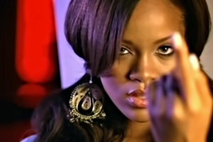 young rihanna in pon de replay music video, very natural makeup