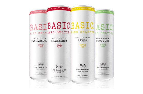 Basic Hard Seltzer Comes In 4 Flavors & Texts You Back