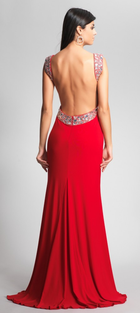 Image result for backless evening gown