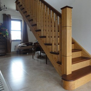 Ash and Mahogany Stairs
