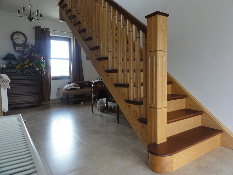 Ash and Mahogany Stairs 129