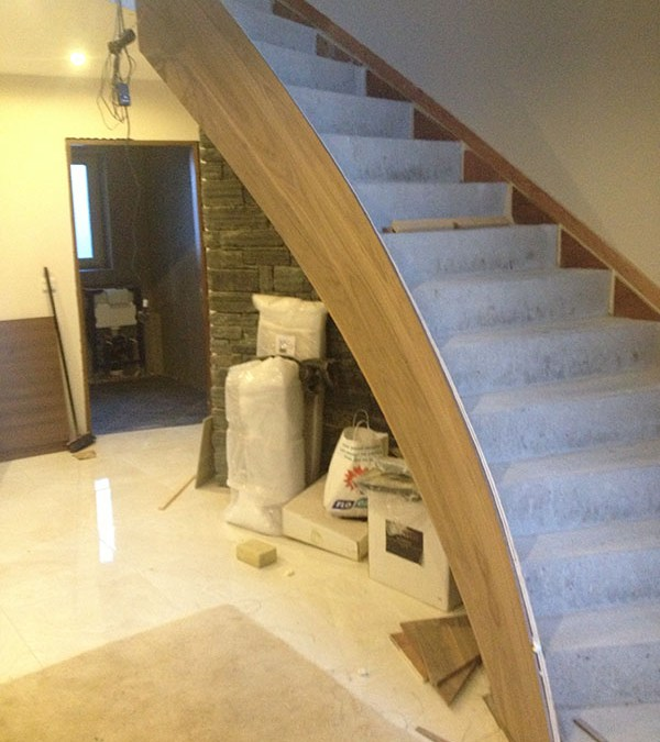 Concrete stairs cladding 6