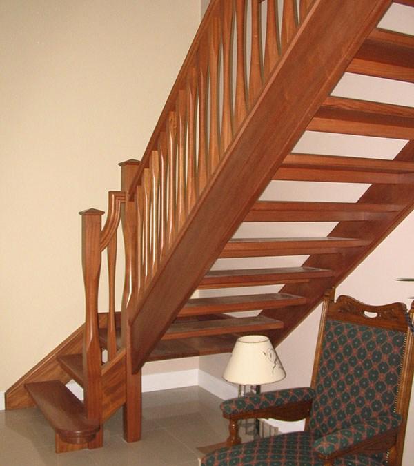 Mahogany Stairs 125