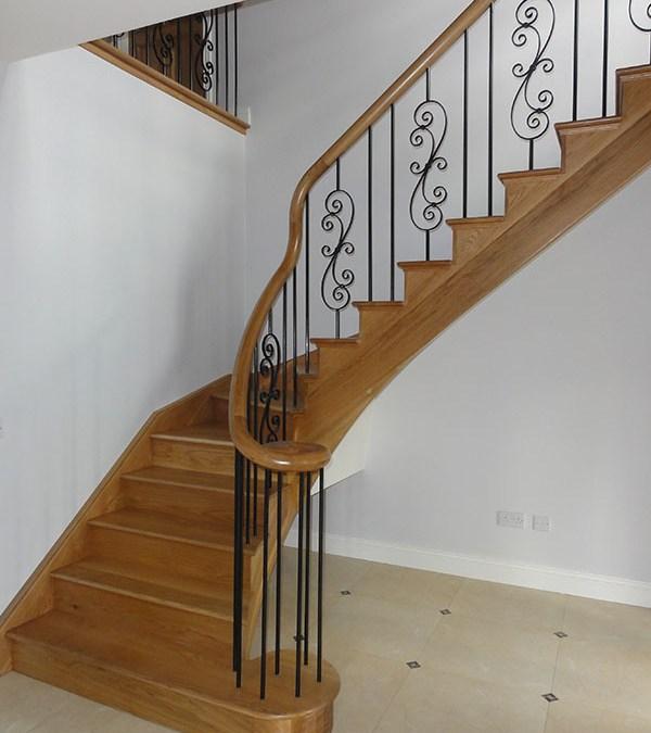 Oak & steel stairs  104