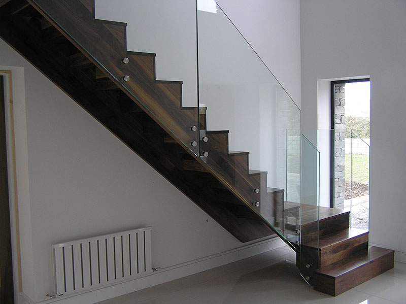 Modern Walnut Stairs 105