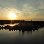 Ballonfahrt von Dresden nach Moritzburg zum Sonnenuntergang, Romatisch