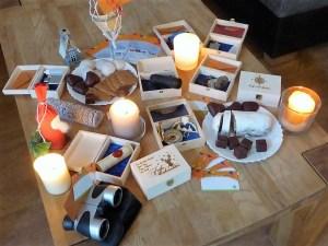 Weihnachtsgeschenk Sets, Angebot zum verschenken einer Ballonfahrt zu Weihnachten.