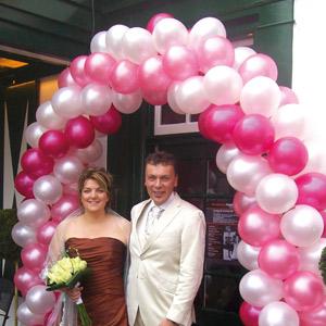 Huwelijksdecoratie, ballonnenboog