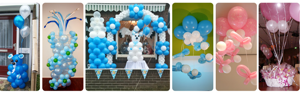 Meerdere opties geboorte ballonnendecoratie
