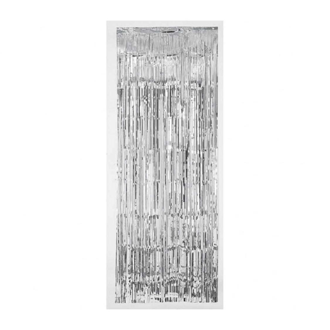 Rideau Metallique Argent Luxe
