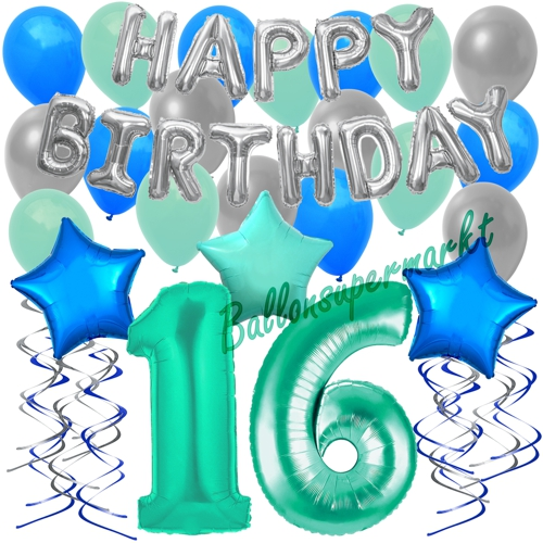 Alles Zum 16 Geburtstag Party Deko Teller Becher U S W Ebay