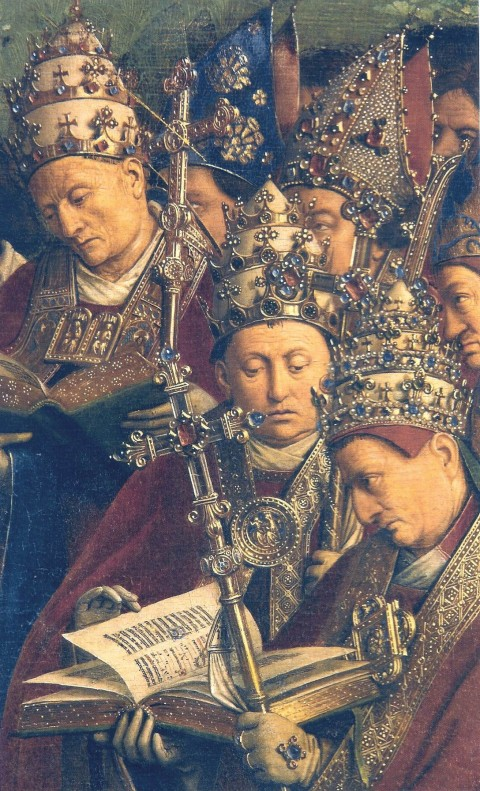 Ghent_Altarpiece_D_-_Popes_-_detail