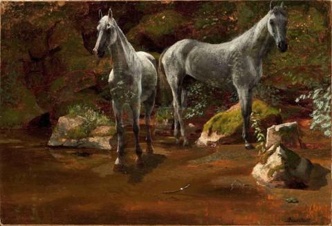 Study_of_Wild_Horses-Albert_Bierstadt