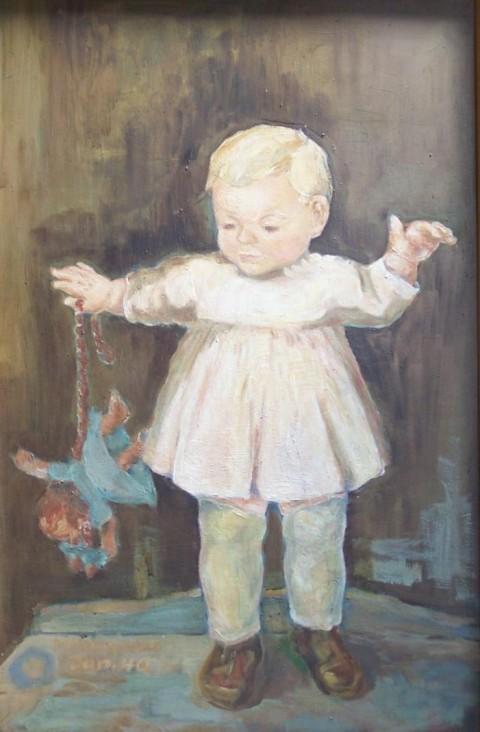Brigitte_mit_Puppe_Margret_Hofheinz-Döring,_Öl,_1946_(WV-Nr.20)