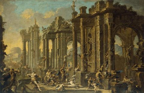 Magnasco,_Alessandro_and_Spera,_Clemente_-_Bacchanalian_Scene_-_1710s