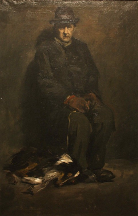 George_Wesley_Bellows_-_Man_and_Dog_(1905)