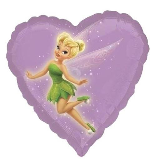 Μπαλόνι Tinkerbell λιλά καρδιά