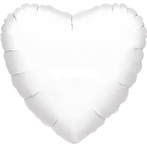 """Μπαλόνι καρδια Άσπρη 32"""""""