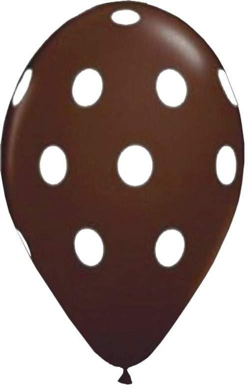 Μπαλόνι τυπωμένο σοκολατί με λευκό πουά