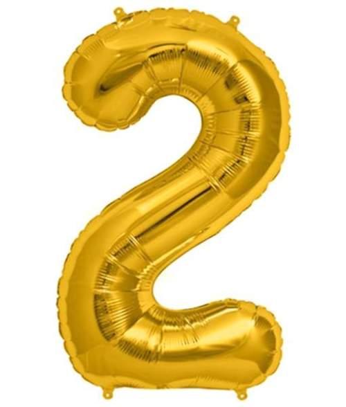 Τεράστιο Μπαλόνι 100 εκ Χρυσό Αριθμός 2