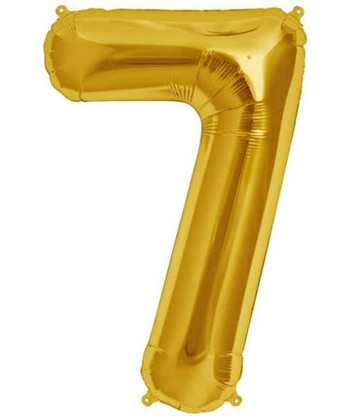 Τεράστιο Μπαλόνι 100 εκ Χρυσό Αριθμός 7