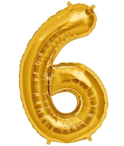 Τεράστιο Μπαλόνι 100 εκ Χρυσό Αριθμός 6